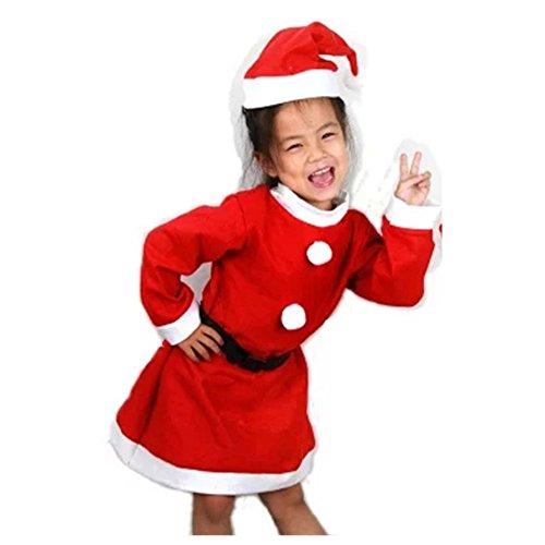 Kostüm Weihnachtsgeschenk Ein Macht (RotSale® 3-teilig Nikolaus Anzug für Mädchen M Kostm Weihnachten Suite Nikolauskostüm)