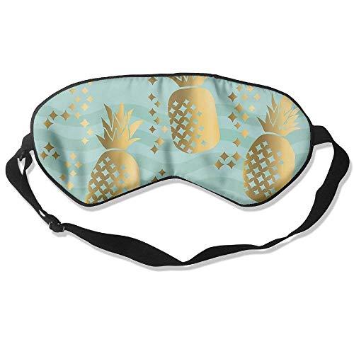 Schlafmaske Gold Luxus Ananas Unisex Verdunkelungsmasken