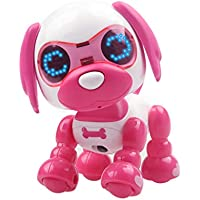 Robot Perro de Juguete Inteligente Mascota Robot Interactivo para Niños Interactivo Playmate Electrónico Mascota Perro Juguete Rompecabezas muñeca Gusspower