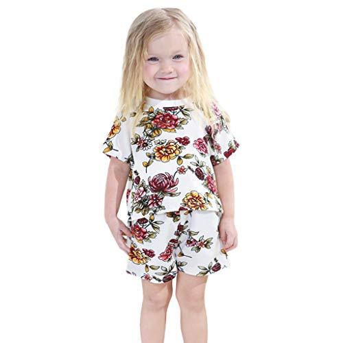 LILICAT Kleinkind Baby Mädchen Dot Gedruckt Bluse Polo Shirt Top Baumwoll Kurzarm T-Shirt +Shorts 2tlg