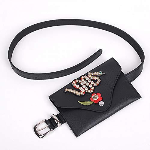 Unbekannt Ladies Pockets hip Bag Leg Bag Shoulder Strap Bag Belt Bag European and American Fashion Ladies Pocket pin Buckle PU Leather Belt, Snake Models -