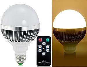 E27 15W 85-265V 24 * 5730 SMD Dimmable Blanc chaud Ampoule LED avec 6 modes de contrôle à distance (Blanc)