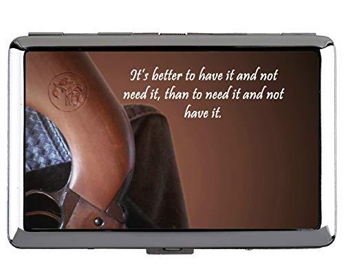 Zigarettenschachtel und Halter, Gun Maxim Professional Business Card -