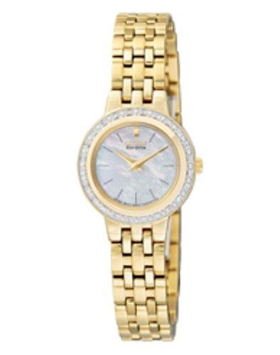 Citizen - EW9572-62D - Montre Femme - Quartz Analogique - Cadran Nacré - Bracelet Acier Inoxydable Or