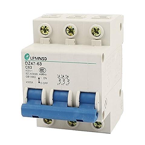 DealMux DZ47-63 C63 AC 400V 63A 3 Pole Überlastungsschutz Trennschalter (Elektrische Breaker Ersatz)