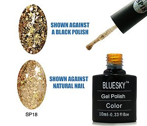 Bluesky Gel Polish, Superstar Glitter Number SP18 10 ml
