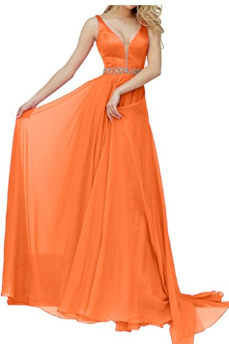 Promgirl House - Robe - Trapèze - Femme Orange - Orange