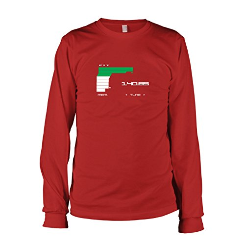 (TEXLAB - MGS Communications - Langarm T-Shirt, Herren, Größe S, rot)