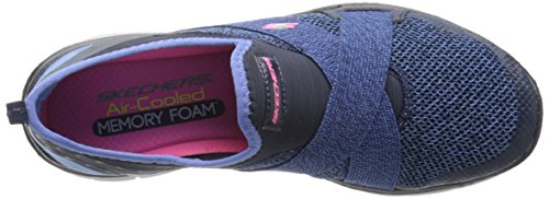 Skechers Flex Appeal 2.0 New Image, Baskets Basses Femme Bleu - Bleu (Bleu marine)