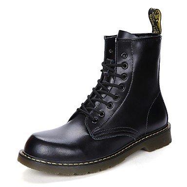 Rtry Zapatos De Mujer Cuero Genuino Pu Cuero Primavera Otoño Comfort Botas De Nieve Botas De Sillín Botas De Moda Bootie Fight Botas Ligeras Botas Soles Us7.5 / Eu38 / Uk5.5 / Cn38