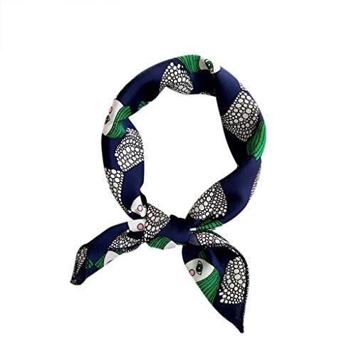 QIMANZI Doppelseitige Boxer langen Abschnitt Schal weiblichen koreanischen Version des Frühlings Herbst wilde Wrist Band Streamer Haarband Mode Fliege(C5)