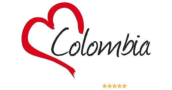 Auto Aufkleber Colombia Herz Sticker Ca 9x15 Cm Konturgeschnitten Auto