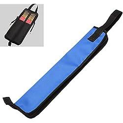 Chytaii Drum Stick Bag Waterproof Storage Bag Case for Drumsticks Brushes Rods Blue
