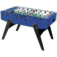 Kickertisch Garlando G2000 Fussballtisch blau mit Laminatspielfläche,Tisch-Kicker