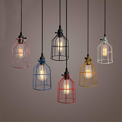 ZHGI LOLF telaio artigianale retrò piccoli lampadari in ferro, ristorante bar europei piccoli lampadari, singola testa lampadari - Artigianale Di Vetro Ornamento