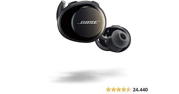 Bose SoundSport Free, vollkommen kabellose Sport - Kopfhörer, (schweißresistente Bluetooth-Kopfhörer für Sport), Schwarz