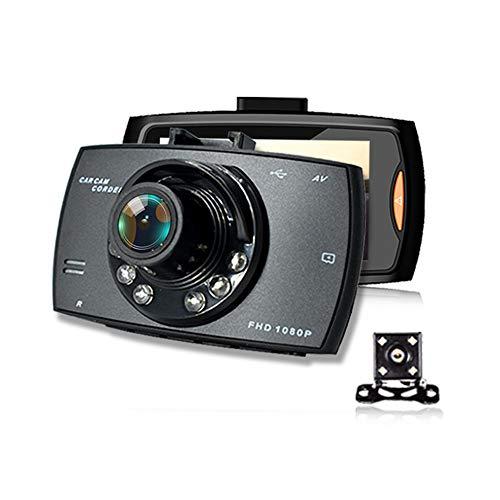 Car YP Dashcam Auto Vorne Hinten, 1080P Full HD DVR Autokamera, 170 ° Weitwinkel, G-Sensor, Loop-Aufnahme, Kollisionserkennung, wasserdichte Videocamera