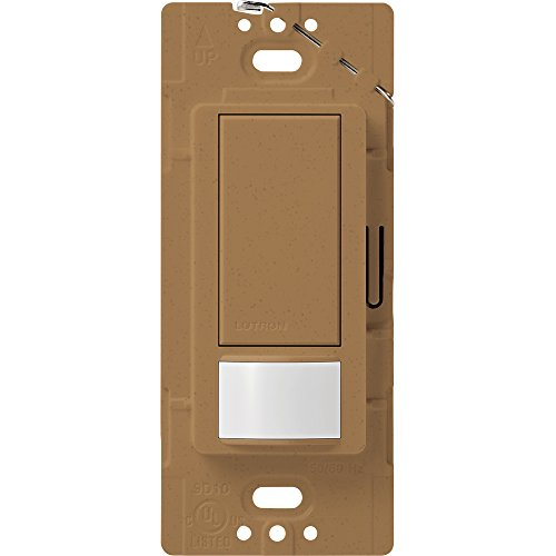 Lutron Maestro Motion Sensor switch, no neutral required, 600 Watts Single-Pole/Multi Location, MS-OPS5M-TC, Terracotta by Lutron -