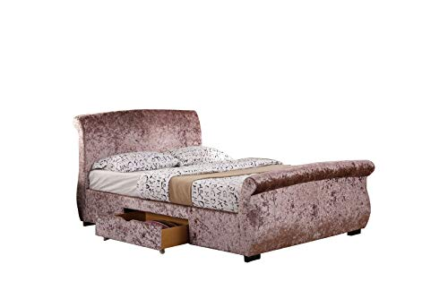 Interiors 2 Suit U Regent Bett mit 2 Schubladen, King-Size-Größe, 152 cm, Rosenbraun