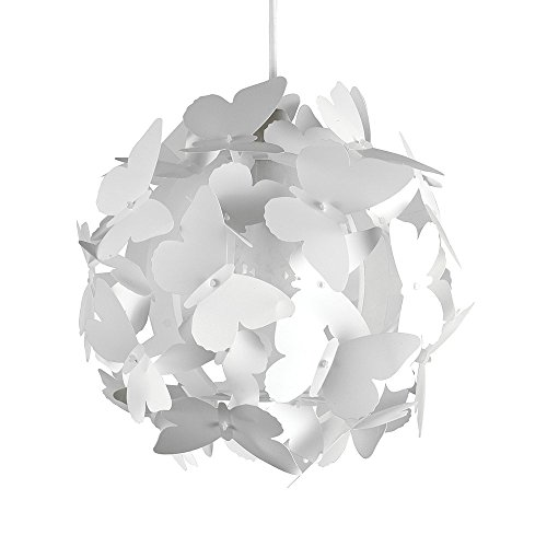 Nursery lamp shades amazon modern globe design ceiling pendant light shade with decorative white butterflies aloadofball