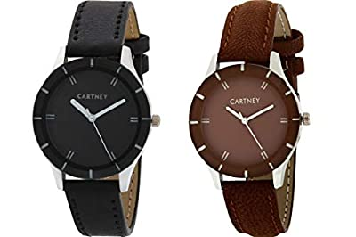 CARTNEY Analogue Black Dial Combo Of 2 Women's & Girl's Watch - Cty0107
