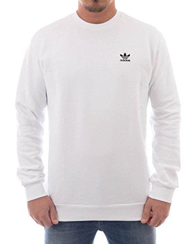 Adidas Men's Standard Crew Sweatshirt White, Large Buy