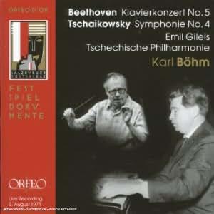 Beethoven - Concerto pour piano n° 5 / Tchaïkovski - Symphonie n° 4 (live à Salzbourg 1971)