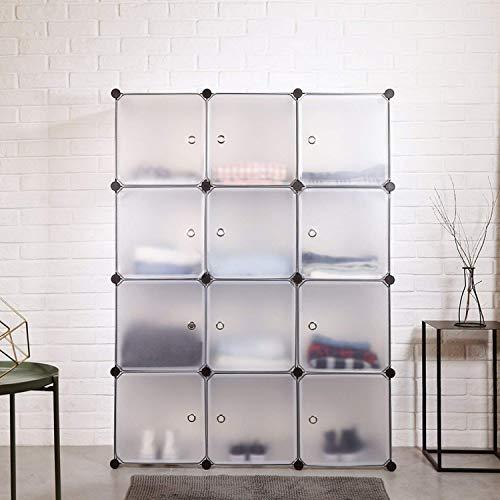 HOMFA Kleiderschrank DIY Schrank Schuhregal Schuhschrank Regalsystem Allzweckschrank Aufbwwahrung weiß 110x36.5x145cm
