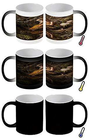 Zauber Magic Tasse Fantasie Bild Motiv Fee Goldfisch