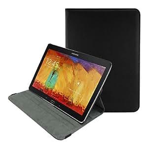 kwmobile Hülle für Samsung Galaxy Note 10.1 (2014) - 360° Standfunktion Case Tablet Schutzhülle Kunstleder - Smart Cover Tabletcase Schwarz