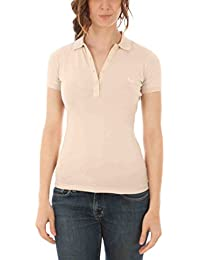 Fred perry polo con las mangas cortas mujer beige