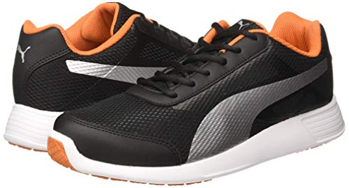 Puma Men's Trenzo Ii Idp Black-Jaffa Orange Running Shoes-8 UK (42 EU) (9 US) (36828608_8)