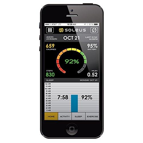 Soleus GO! Wireless Bluetooth Fitnessband Aktivitätstracker Schlaftracker Kompatibel mit iOS & Android Smartphones und Tablets - 2