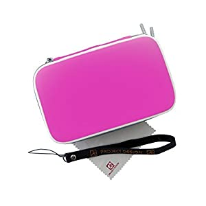 Nintendo 3DS XL, New Nintendo 3DS & 2DS XL Tasche – Hardcover / Case / Schutzhülle mit Zubehörfächern in pink