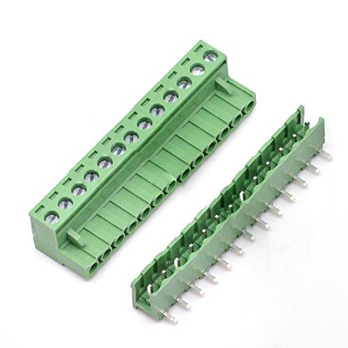 willwin 5,08mm Pitch Rechts Winkel 4pol PCB steckbar Terminal Block Anschlüsse 13P x 5 Set