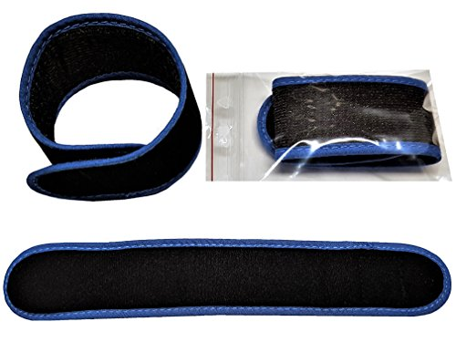 10 x Haushaltsklett 25 cm x 4 cm weiches Material Premium Anglerwelt24 ( Schwarz blau )