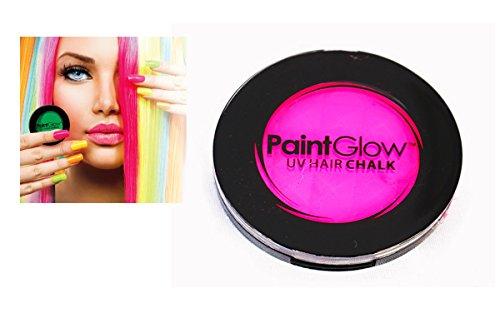 Smiffys - SM46090 - Pot Craie UV Cheveux 3 - 5 g Rose - Taille Unique