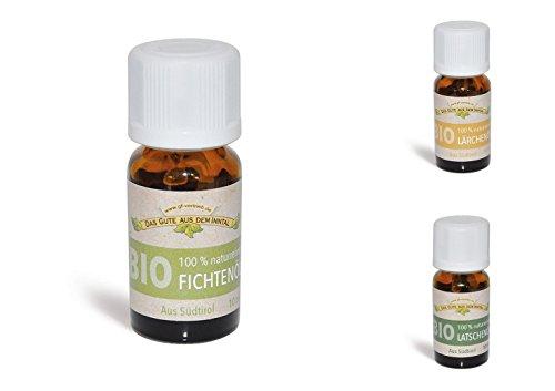 Preisvergleich Produktbild Inntaler Naturprodukte BIO Öle TESTPAKET 3x10ml Lärchenöl,  Latschenkieferöl,  Fichtenöl