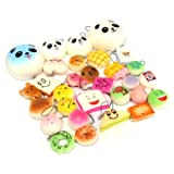 12PCS Random Kawaii Squishy Panda Bun To...
