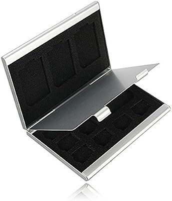 12ranuras de aluminio 8x Tf tarjeta de memoria SD de 4x caja de almacenamiento caso