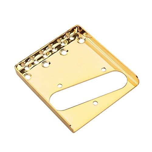 Healifty Premium Chrom Stegplatte für Fender Telecaster TL Ersatzteile für E-Gitarre 85.5 mm (Gold)