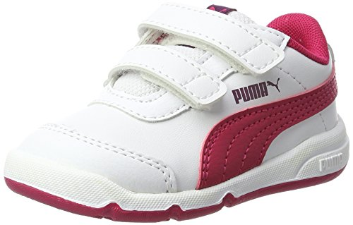 Puma Stepfleex 2 SL V Inf, Zapatillas Unisex Niños, Blanco (White-Love Potion), 25 EU