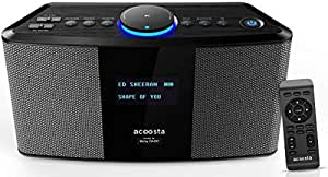 Acoosta Uno ABT-2000PKW/21 High Fidelity Bluetooth Speaker with Built in Music by Sony DADC (Space Grey)