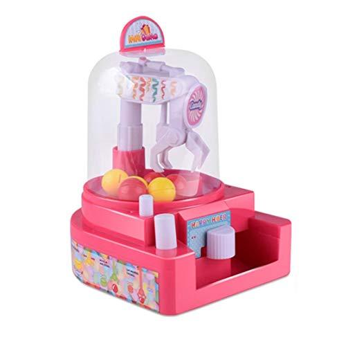 happy event Mini Doll Machine Grab Ball Süßigkeiten Catcher Gum Crane Kinder Party Spielzeug Rolle Spielen | Mini Doll Machine Grab Ball Candy Catcher Gum Crane Kids Party Toys Role Play (Rot) (Candy Traktor)