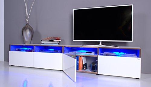 TV Lowboard NOOMO # Fronten weiß Hochglanz inkl. RGB-Beleuchtung mit Fernbedienung - 2