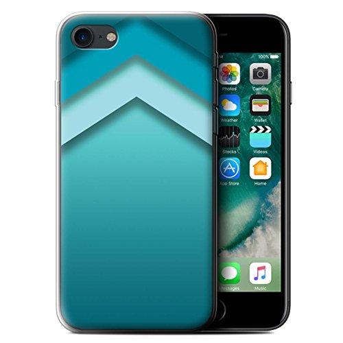 Stuff4 Gel TPU Hülle / Case für Apple iPhone 7 / Martini-Glas/Alkohol Muster / Teal Mode Kollektion Zickzack Kunst