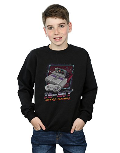Absolute Cult Vincent Trinidad Jungen 16 Bit Retro Gaming Sweatshirt Schwarz 7-8 Years - Retro-gaming-pullover