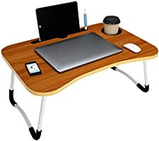 Story@Home foldable portable adjustable multifunction laptop study lapdesk table for breakfast serving bed tray office...