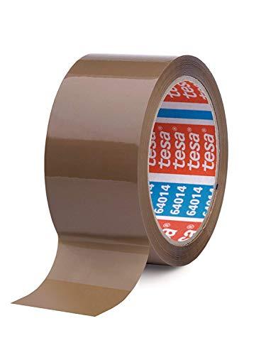 3 ROLLEN - TESA Paketband Braun - leise abrollend - 50 mm breit, 66m lang - Verkauf durch MANYMORE