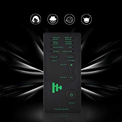 Pudincoco Cambiador de Voz Disfraz de Micrófono Adaptador de Cambiador de Voz del Micrófono del Teléfono para PUBG (Negro)